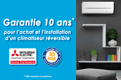 garantie 10 ans climatisation reversible thermo conseils RGE QualiPAC Mitsubishi home partenaire